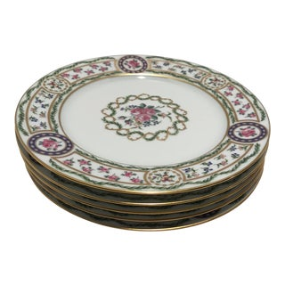 Haviland Limoges Louveciennes Pattern China Salad Plates - Set of 5 For Sale