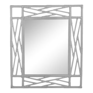 Chippendale Mirror - Light Gray For Sale