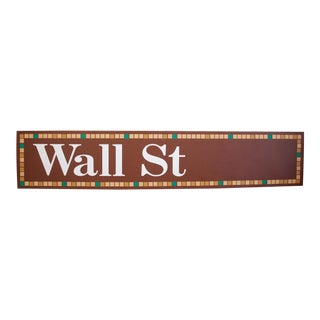 """New York City """"Wall Street"""" Subway Sign For Sale"""