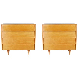 Florence Knoll Maple Chests - A Pair