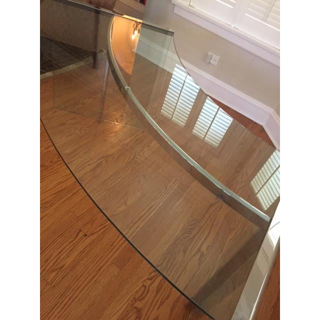 DIA Curved Glass & Chromed Steel Writing Desk - Image 9 of 10