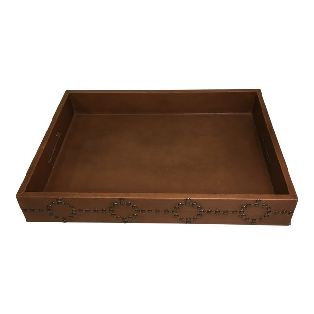 Studded Serving Tray For Sale