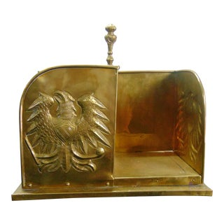 Arts & Crafts Hammered Brass Revolving Book Stand For Sale