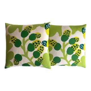 Marimekko Rare 1960's Vintage Mid Century Scandinavian Modern Throw Pillows - a Pair For Sale
