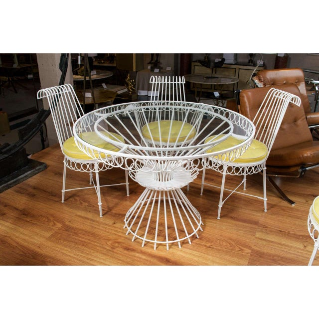1950s Mathieu Mategot Set of Table and 6 Chairs For Sale - Image 5 of 10