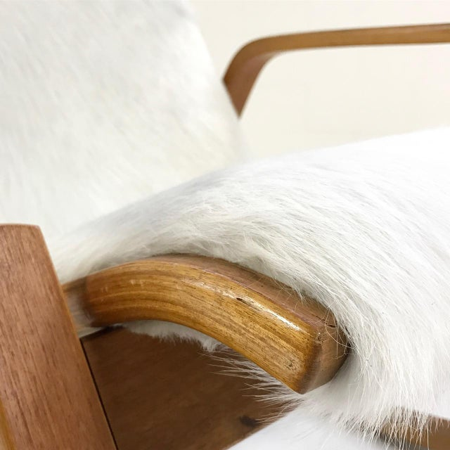 Forsyth One of a Kind Westnofa Of Norway Rocking Chair In Ivory Brazilian Cowhide For Sale In Saint Louis - Image 6 of 6