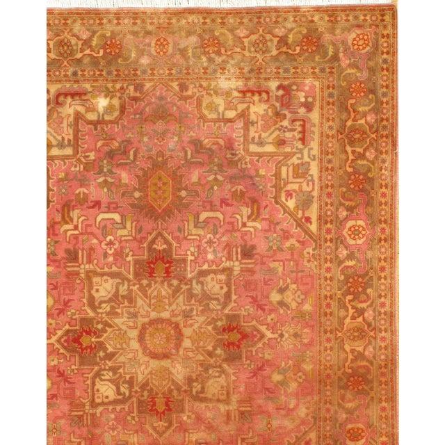 "Islamic Pasargad N Y Persian Tabriz Heriz Design Silk & Wool Pile Rug - 3'4"" X 4'10"" For Sale - Image 3 of 5"