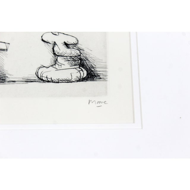 "Black Henry Moore Mid-Century Modern ""Six Sculpture Motives"" Print For Sale - Image 8 of 9"