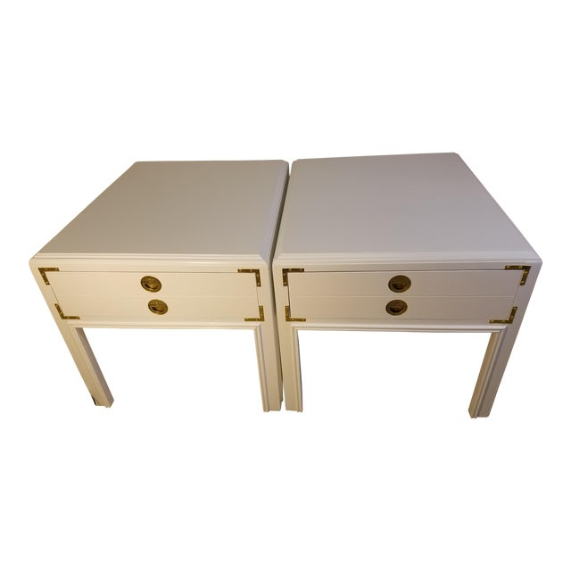 1970s Mid-Century Modern Drexel Side Tables - a Pair For Sale
