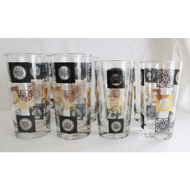Mid-Century Modern Highball Glasses - Set of 8 - Image 7 of 7