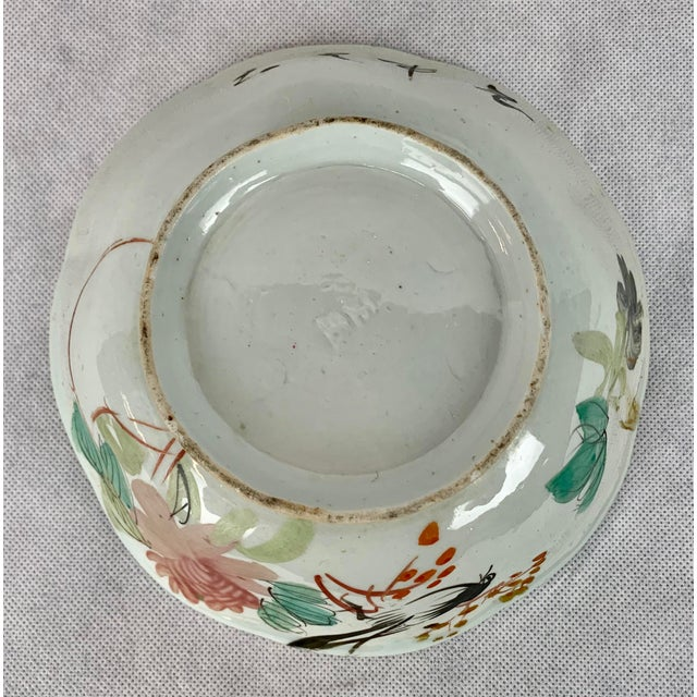 Chinese Porcelain Bowl With Flowers and Poem on the Reverse For Sale In West Palm - Image 6 of 8