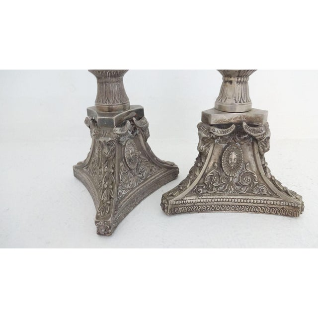 Tall Silverplate Candlesticks - A Pair - Image 4 of 8