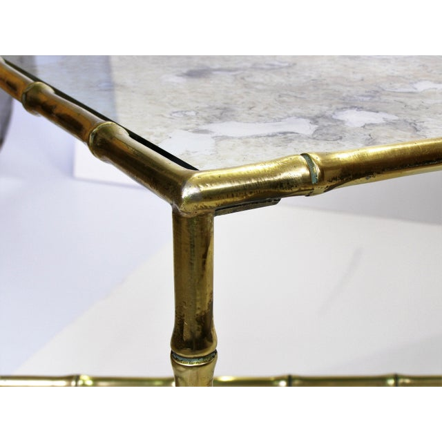 Maison Bagues French Brass Bamboo Coffee Table - Image 9 of 11