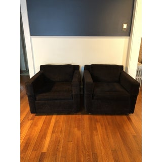 Modern Black Selig Club Chairs - A Pair Preview