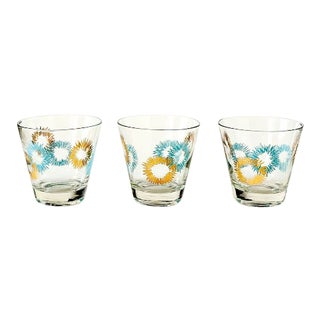 Mid-Century Modern Low Ball Glasses - Set of 3 For Sale