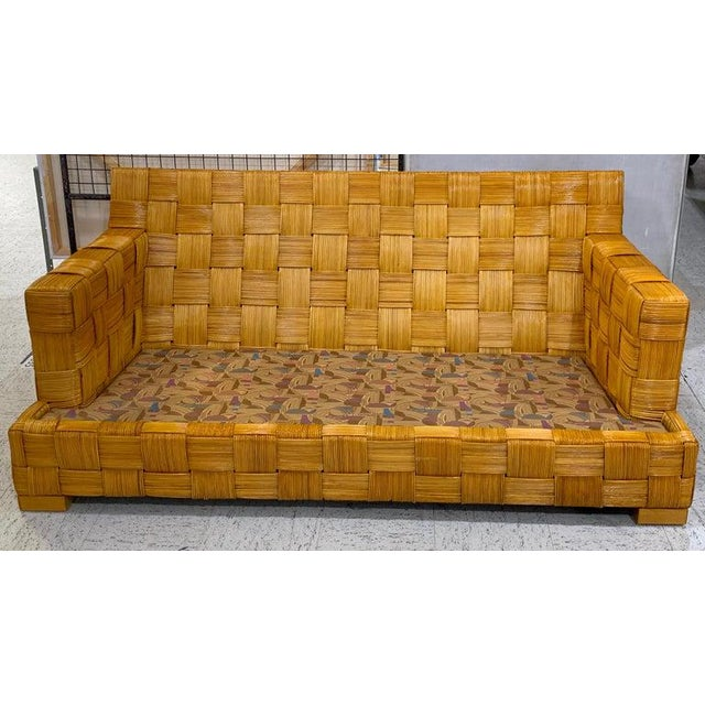 "Donghia Donghia Woven Rattan ""Block Island"" Sofa by John Hutton For Sale - Image 4 of 8"