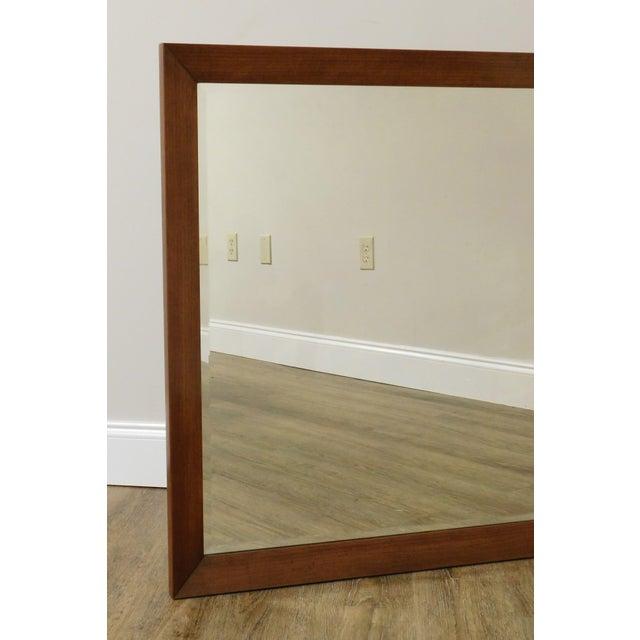 Mid Century Vintage Walnut Frame Beveled Wall Mirror For Sale - Image 11 of 13
