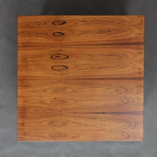 Haslev Mobelsnedkeri 1960s Severin Hansen Square Rosewood Coffee Table For Sale - Image 4 of 7