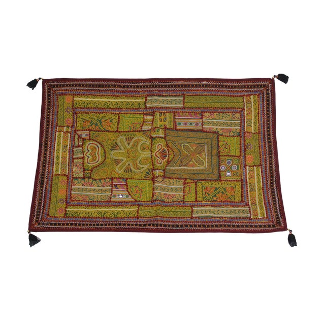 Yellow Tasseled Jaislmer Tapestry For Sale