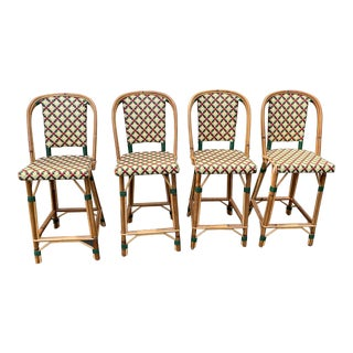 Set of 4 Maison Drucker Counter Stools For Sale