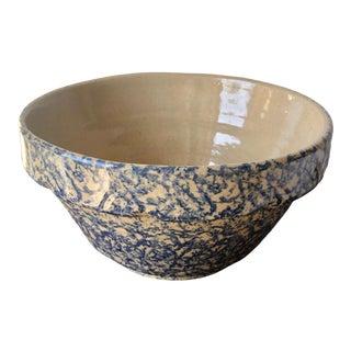 """Robinson Ransbottom-Roseville Pottery 10"""" Sponge Ware Bowl For Sale"""