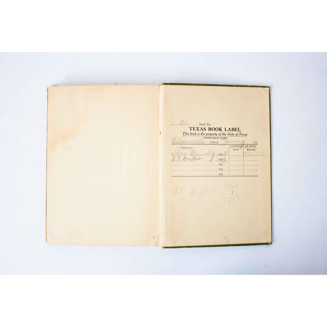 Antique Green and Gold Schoolbook For Sale - Image 10 of 11
