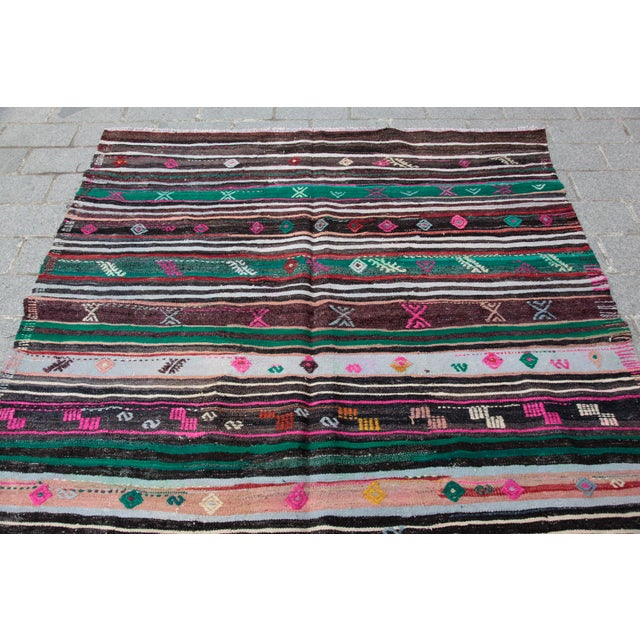 Turkish Kilim Rug - 8' 8'' X 5' 10'' For Sale - Image 5 of 11