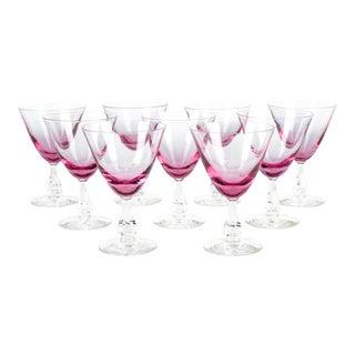Vintage Pink Wine/Water Glasses