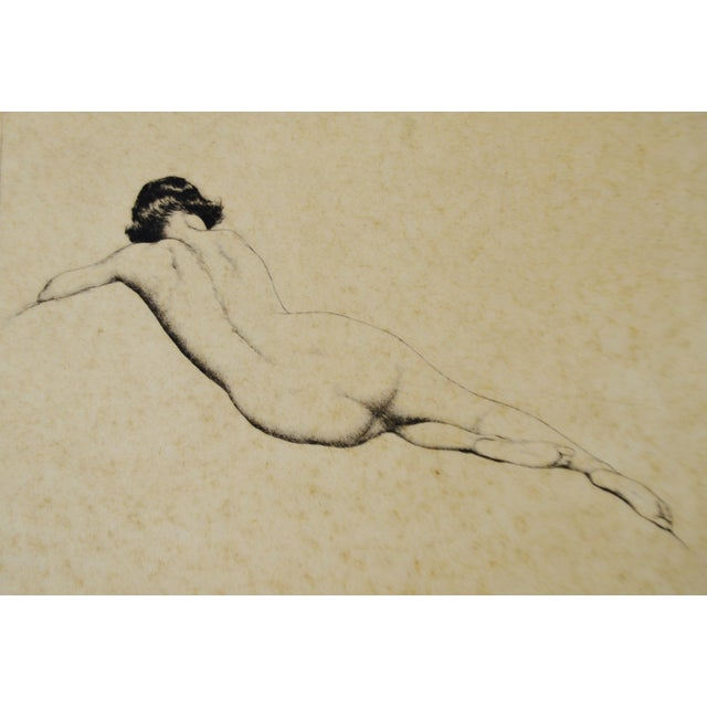 Early Warren B. Davis Pencil Signed Etching - Image 3 of 6