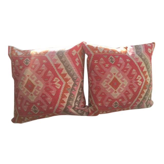 Aztec Print Throw Pillows - A Pair - Image 1 of 3