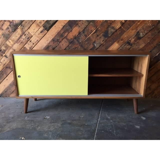 Mid Century Style Custom Two Tone Credenza For Sale - Image 5 of 7