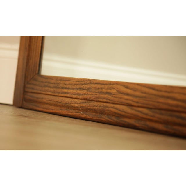 1940s Feudal Oak Jamestown Lounge Carved Frame Mirror For Sale - Image 5 of 12