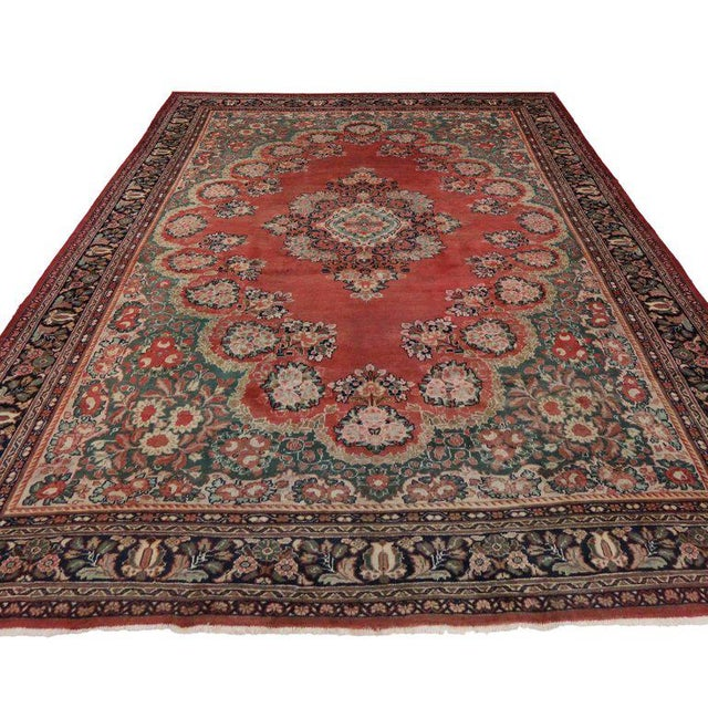 Contemporary Antique Persian Mahal Rug with Traditional Style For Sale - Image 3 of 8