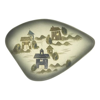 Sascha Brastoff Rooftops Collection Free Form Style Amoeba Shaped Dish #F3 For Sale