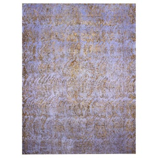 "Hand Knotted Overdyed Vintage Tabriz Rug - 9'6"" X 12'1"""
