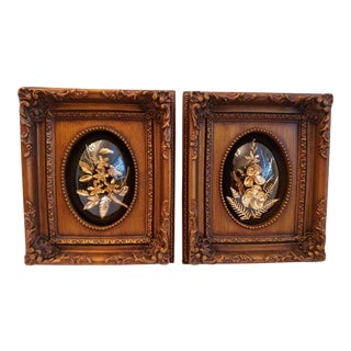 Preserved Hawaiian Botanicals in Bubble Frame - a Pair For Sale