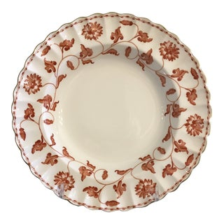 English Spode Red Colonel Porcelain Soup Bowls Vintage - Set of 8 For Sale