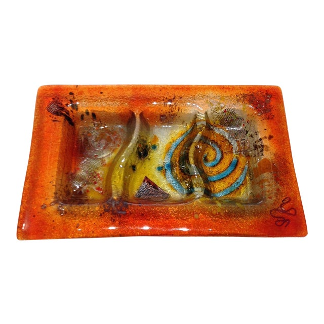 Fused Glass Art Dish - Image 1 of 10