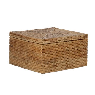 Artifacts Rattan Lidded Storage Box For Sale