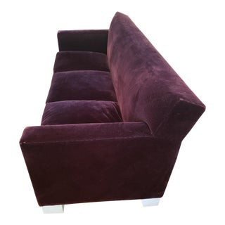 Vintage Roy McMakin Down and Mohair Mid-Century Modern Style Sofa For Sale