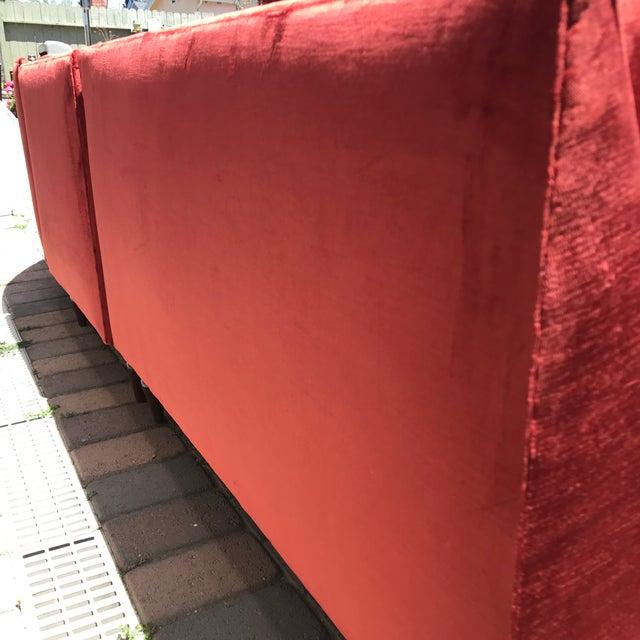 Islamic Mid-Century Probber Style Velvet Sectional Sofa For Sale - Image 3 of 12