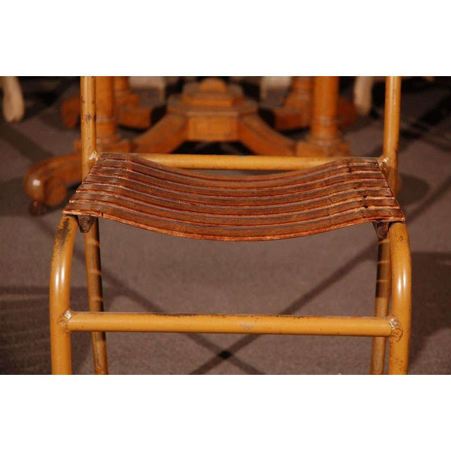 1930s Painted Bakelite Slat Stacking Chairs, England, circa 1940 For Sale - Image 5 of 11