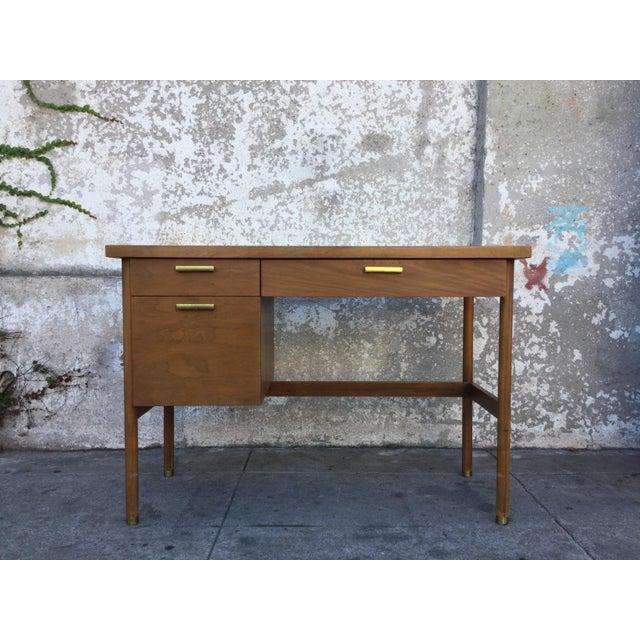 Vintage Mid-Century Walnut Desk - Image 2 of 6