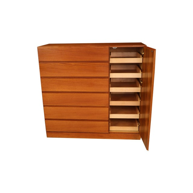 Danish Modern Teak Storage Gents Chest Dresser For Sale In Baltimore - Image 6 of 10