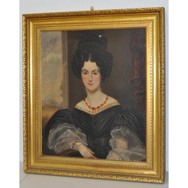 Antique Oil Portrait in Gilded Frame - Image 6 of 8