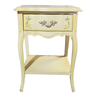 Mid 20th Century Dixie French Country Single Drawer Nightstand For Sale
