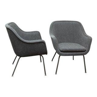 Ward Bennett Bumper Chairs - a Pair