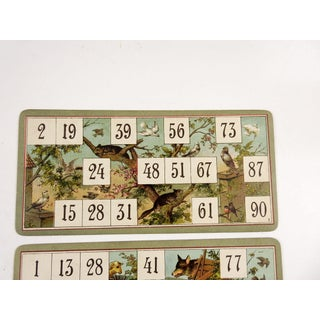 Antique Lithograph Game Cards Storks & Wolf - Set of 3 Preview