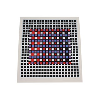Victor Vasarely 1989 Signed Limited Edition Serigraph Print For Sale