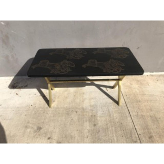 Piero Fornasetti Bighe Neoclassical Coffee Table For Sale - Image 9 of 13